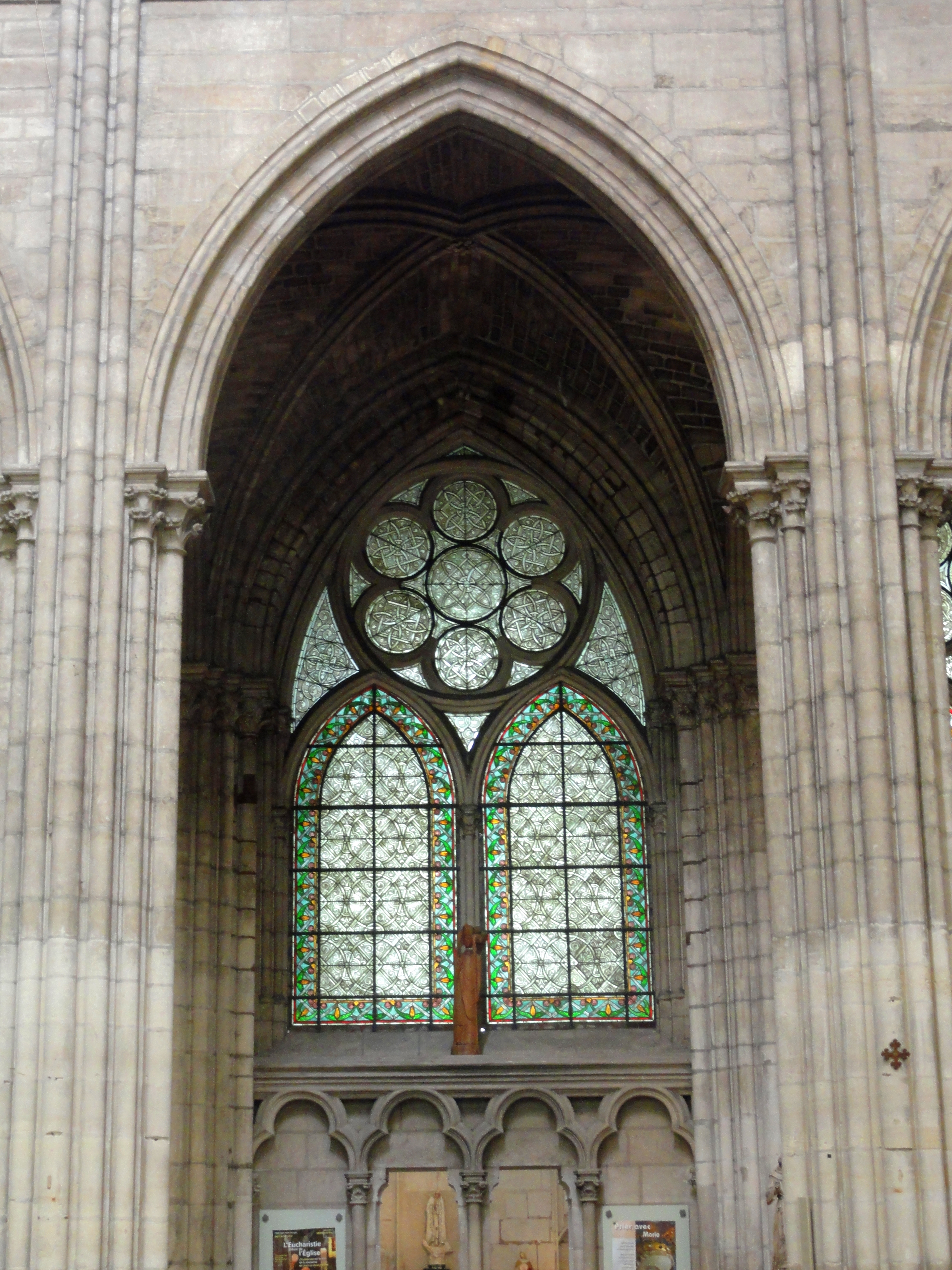 Antique Gothic Pointed Arch Window.