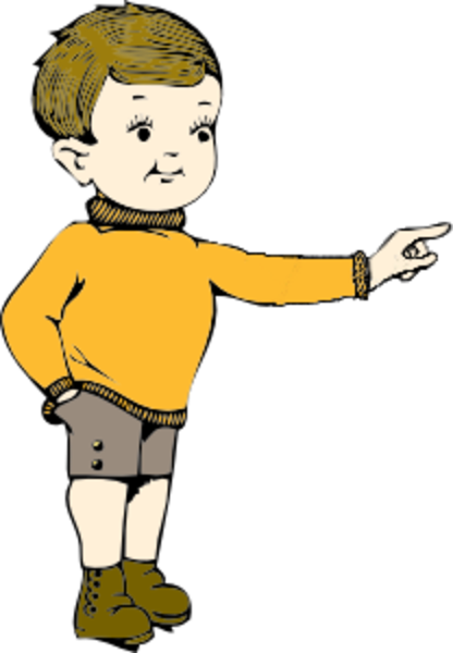 Pointing Clipart.