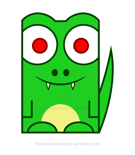 Pointed crocodile clipart #4