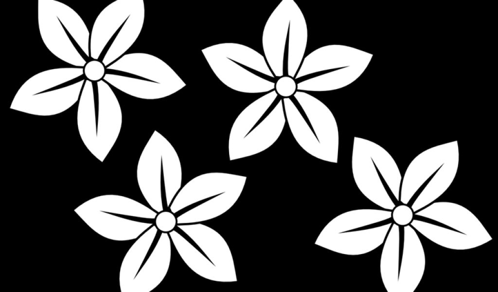 Pointed flower clipart clipground black and white flowers clip art flowers clip art black and white free 4 mightylinksfo