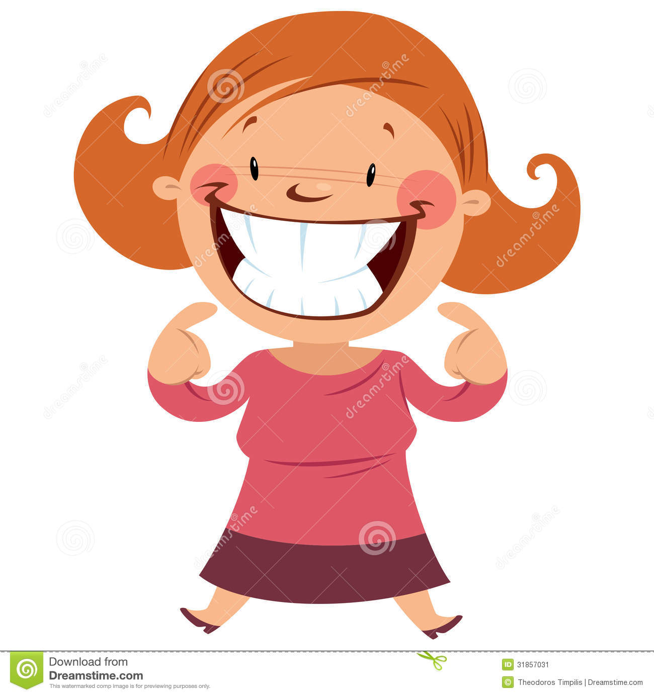 girl smiling clipart #6