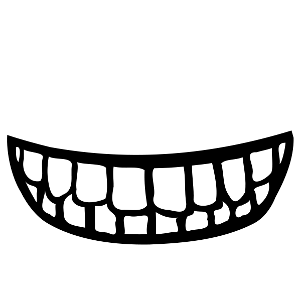 Monster mouth clipart pointy teeth.