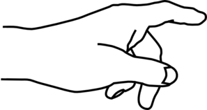 Hand Pointing Clipart Black And White.