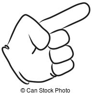 Pointing hand clip art free.