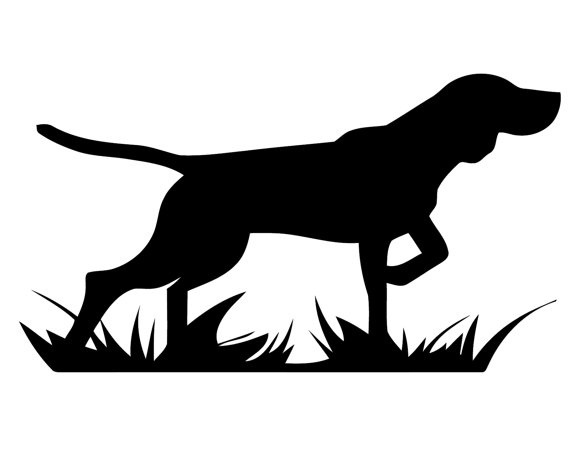 Pointing Dog Silhouette Clipart.