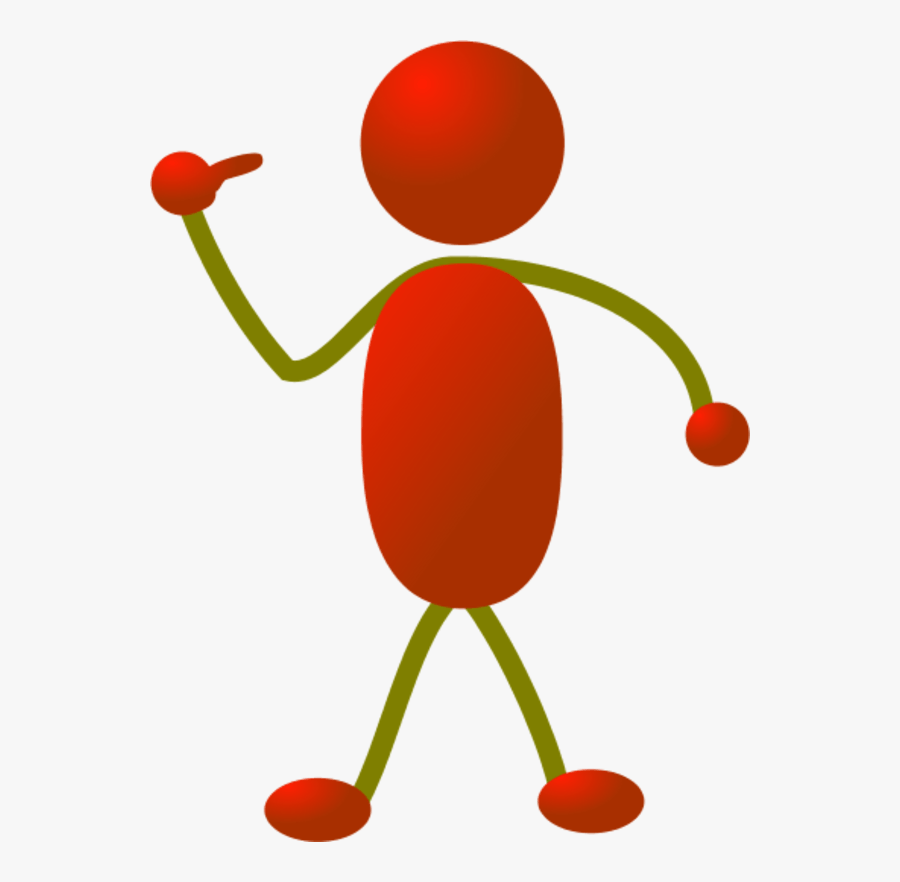 Person Pointing Finger Clipart.