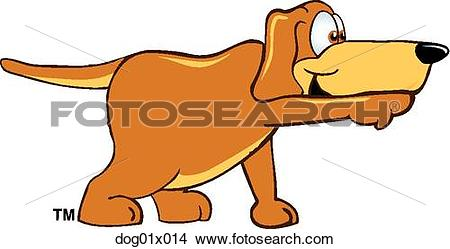 Clipart of Dog pointing dog01x014.