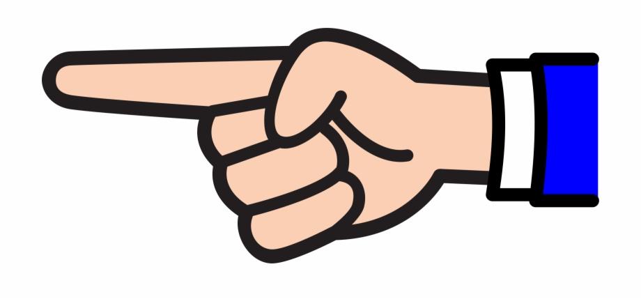 Finger Point Clip Art.