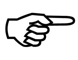 Pointing finger clipart black and white 1 » Clipart Portal.