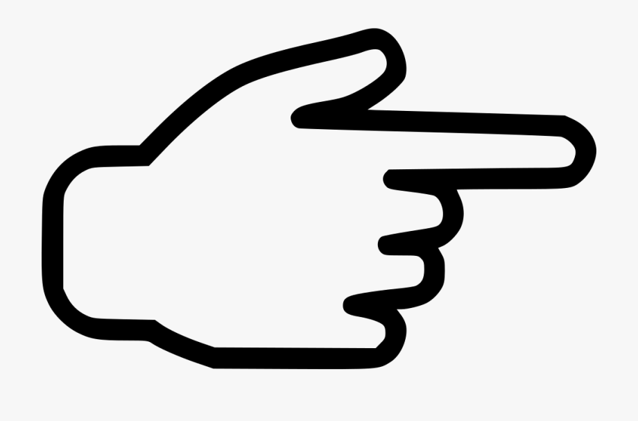 Right Clipart Finger Pointing.