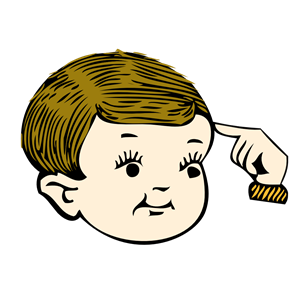 Pointing at your head clipart, cliparts of Pointing at your.