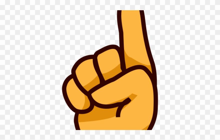 Hand Emoji Clipart Sticker.