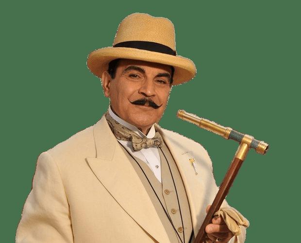 Hercule Poirot David Suchet With Looking Glass transparent.