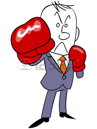 Poised To JAB Hit Businessman Royalty Free Cliparts, Vectors, And.