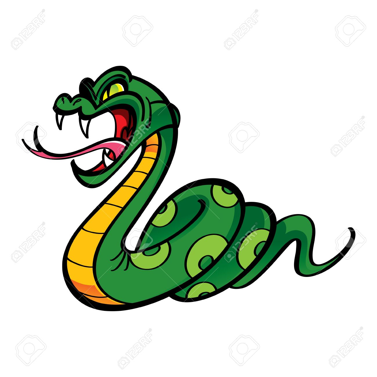 Angry Snake Bite Poison Royalty Free Cliparts, Vectors, And Stock.
