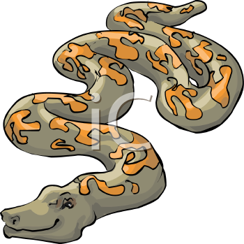 Royalty Free Clipart Image: Poisonous Snake.