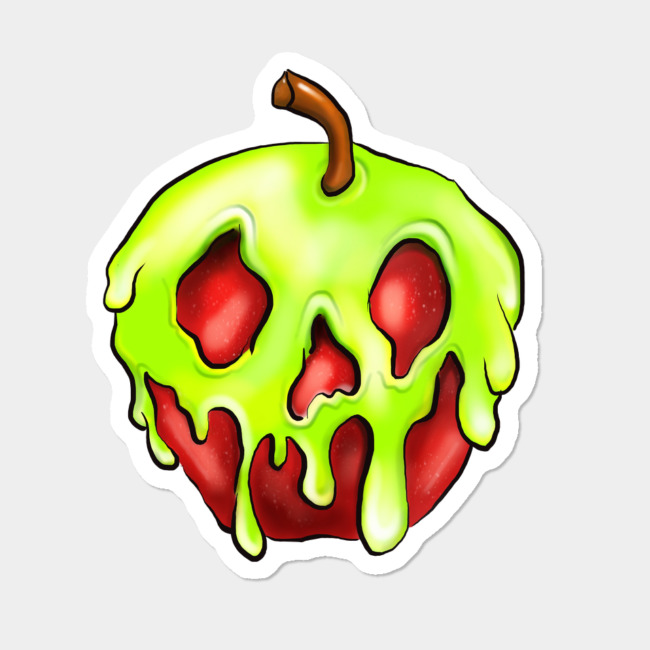 Poisoned Apple Sticker Sticker By SarahMagicMakeup Design By Humans.