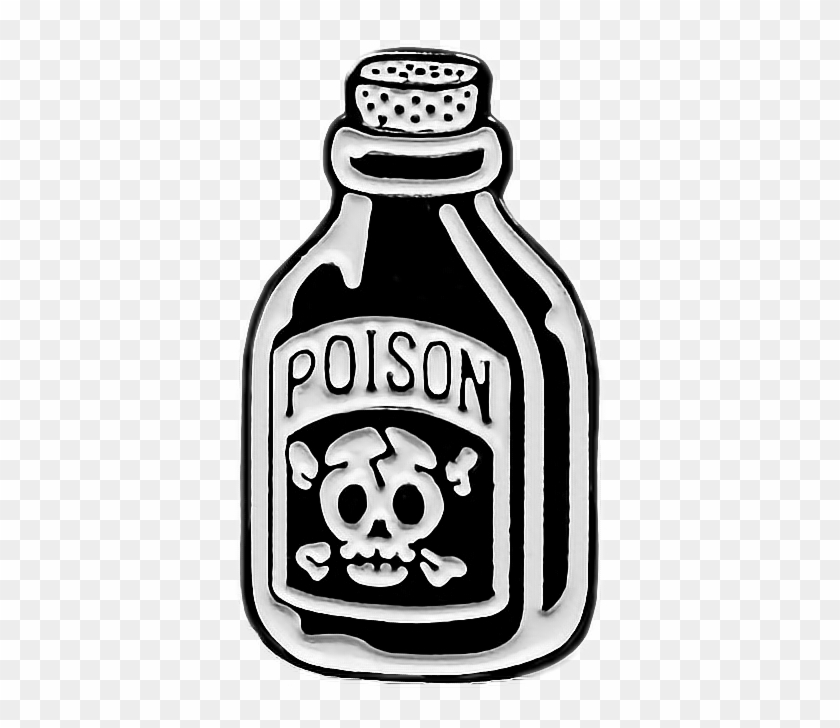 poison #bottle #death #art #patch #patches #black.