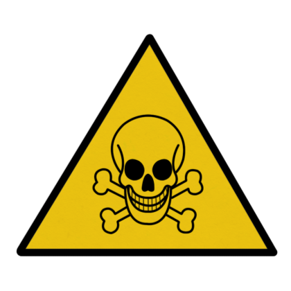 Poison Sign Clipart.