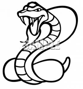 Clipart of a Poisonous Cobra Snake.