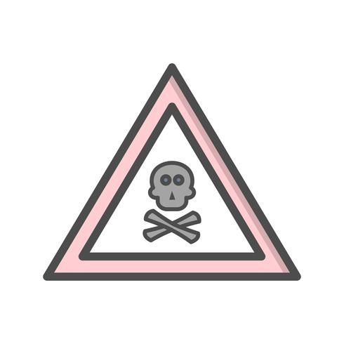 Vector Poison Gas Road Sign Icon.