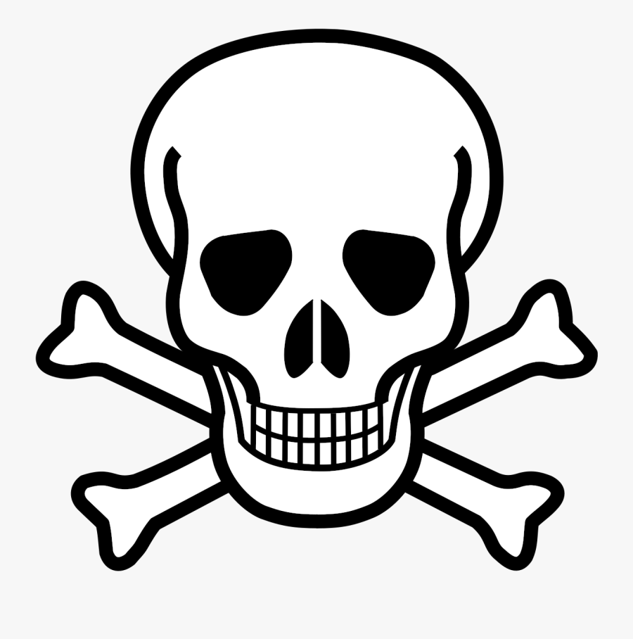 Crossbones Clipart Poison Symbol.