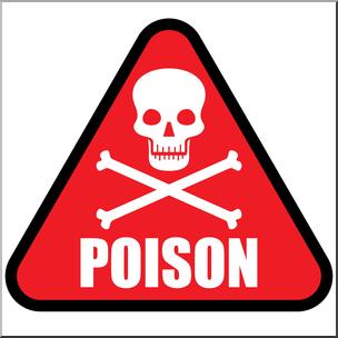 Clip Art: Poison Symbol 1 Color 1 I abcteach.com.