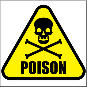 Clip Art: Poison Symbol 1 Color 2 I abcteach.com.