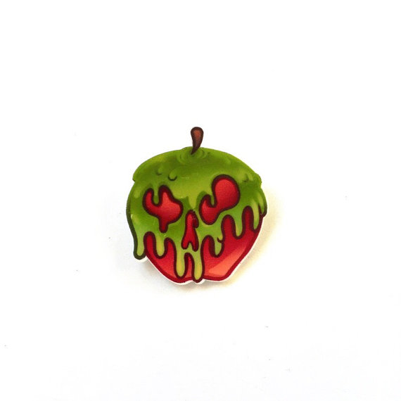 Snow White Poison Apple Brooch Disney Inspired by ToNeverNeverland.