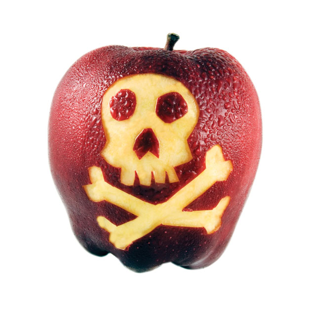 Poison apple clipart.