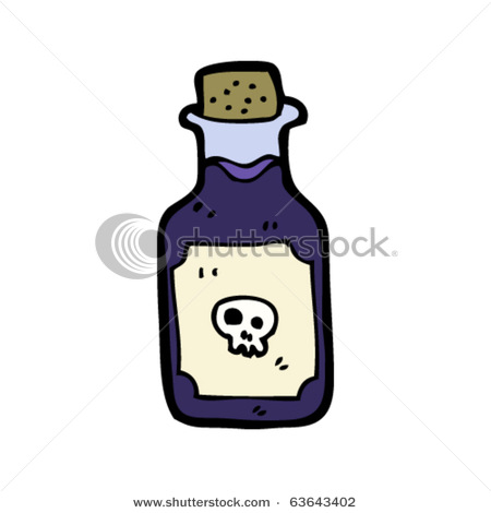 of Poison with Skull on It.