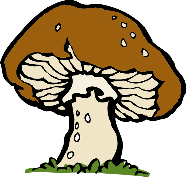 Poison Mushrooms Clipart.