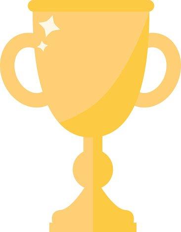 Award cup vector icon Clipart Image.