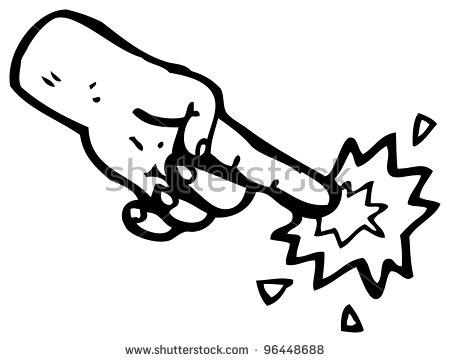 Finger Poke Clipart.