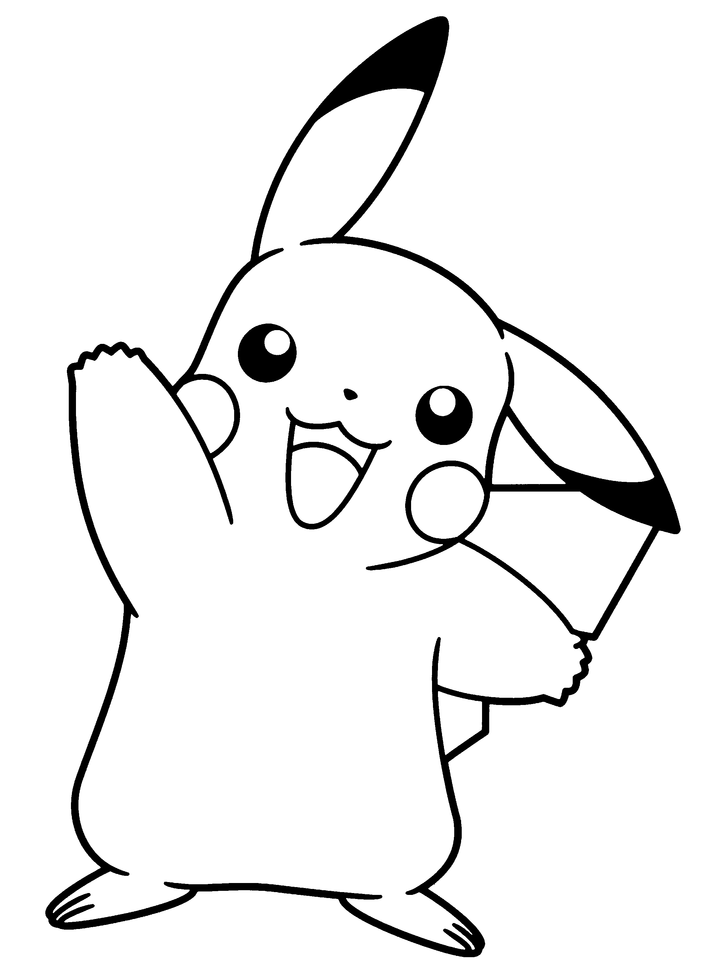 Pokemon Black And White Clip Art Sketch Coloring Page.