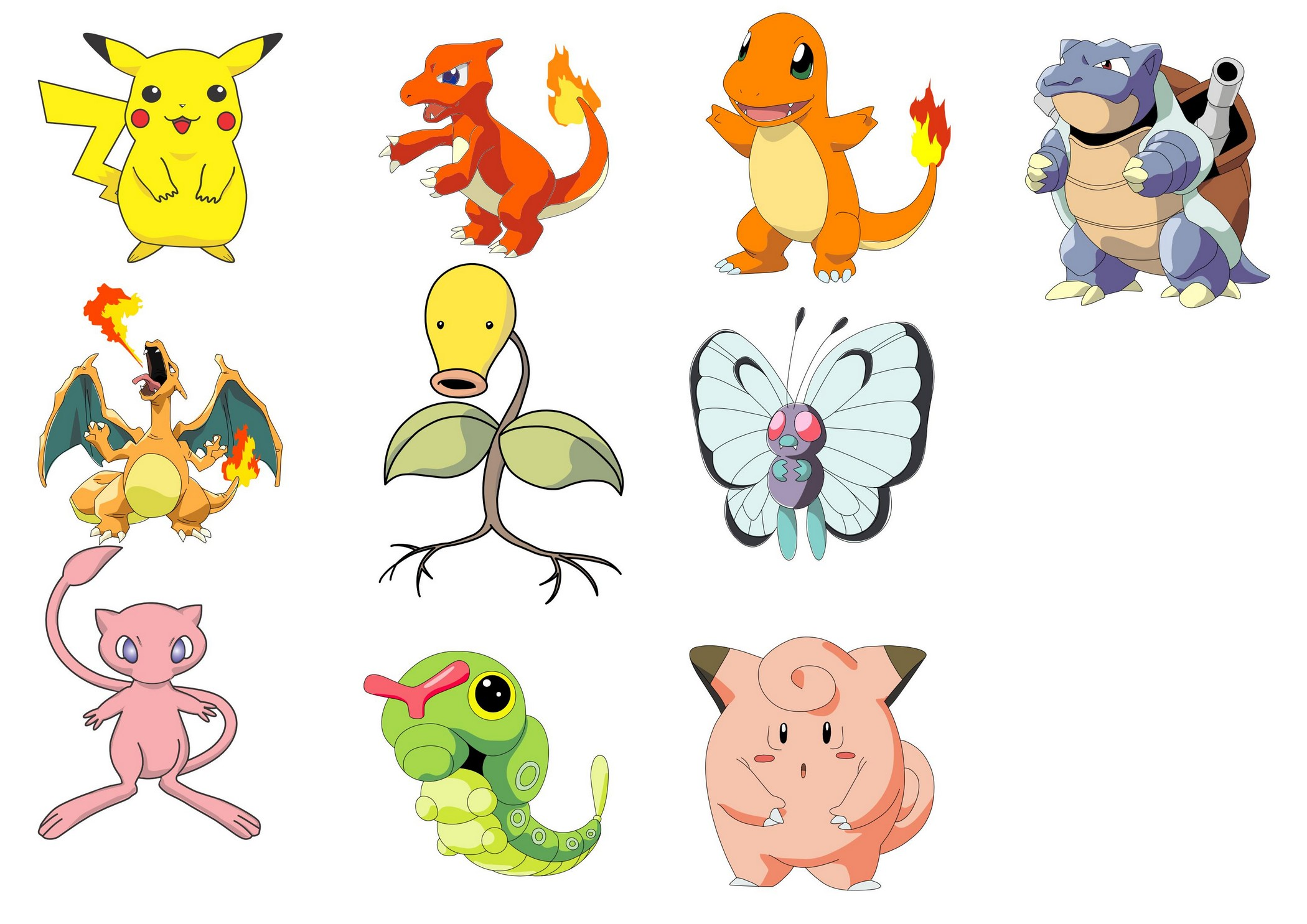 Pokemon characters vector [EPS File] Vector EPS Free Download.