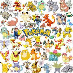 250 First Generation Pokemon Silhouette Clipart Pokemon Clipart.