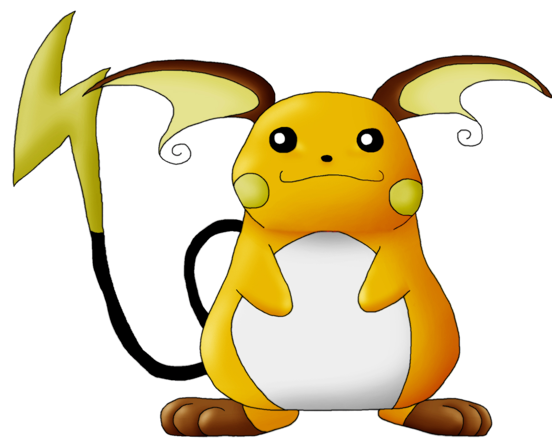 Raichu by Kenny21 on DeviantArt.