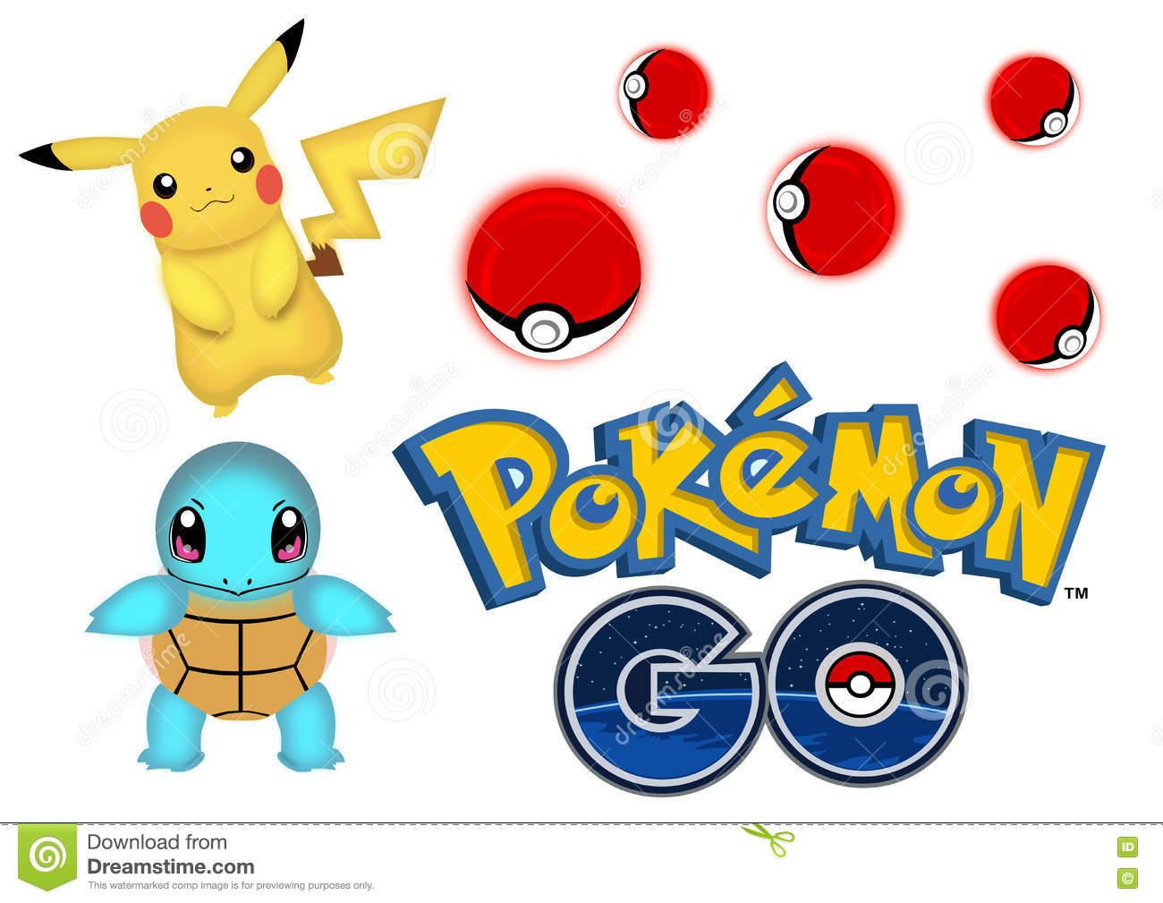 Pokemon Go Editorial Stock Photo.