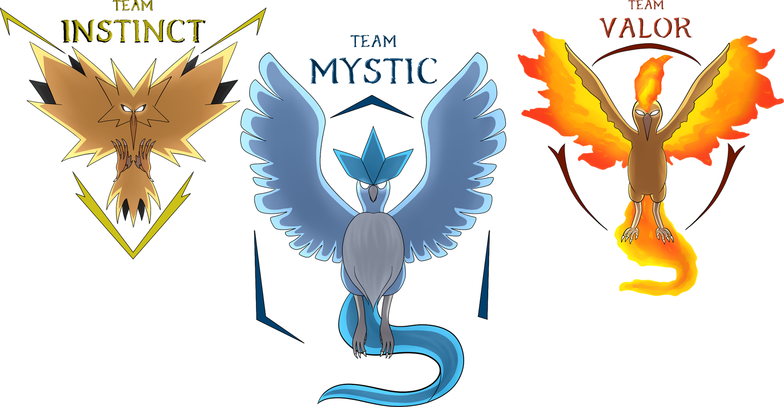 Pokemon Go Team Badges.