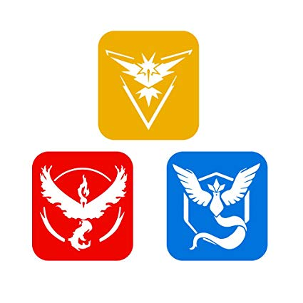 Amazon.com: Pokémon Go Team Instinct, Valor, Mystic Logo.