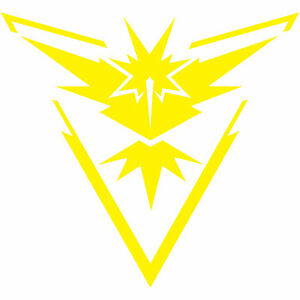 Details about Pokemon Go Team Instinct Yellow Logo 8\