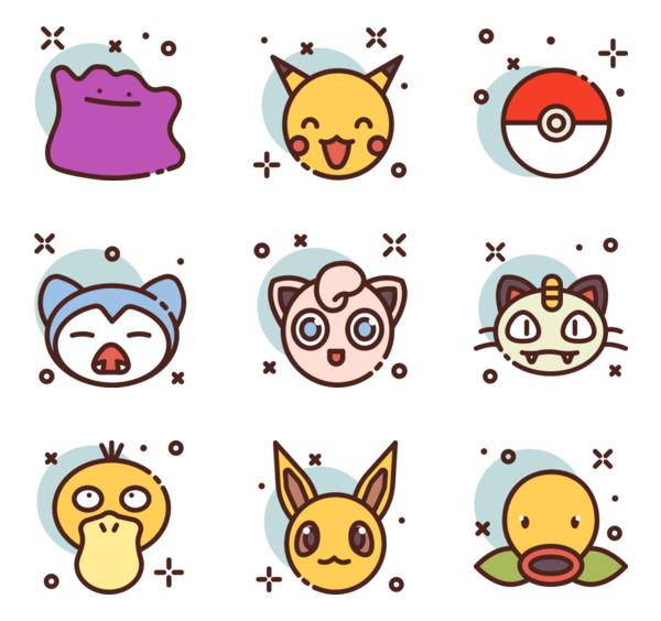 3 pokemon icon packs.