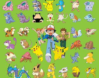 Free Printable Pokemon Clipart.