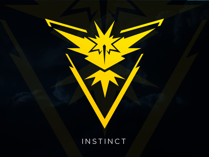 Instinct: Pokemon GO Team Logo [Vector Download] by Meritt.