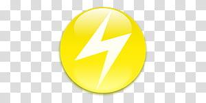 Pokemon Type Symbols able, white and yellow lightning logo.