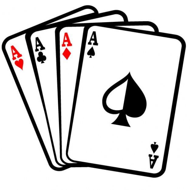 Four aces poker cards clip art Vector.