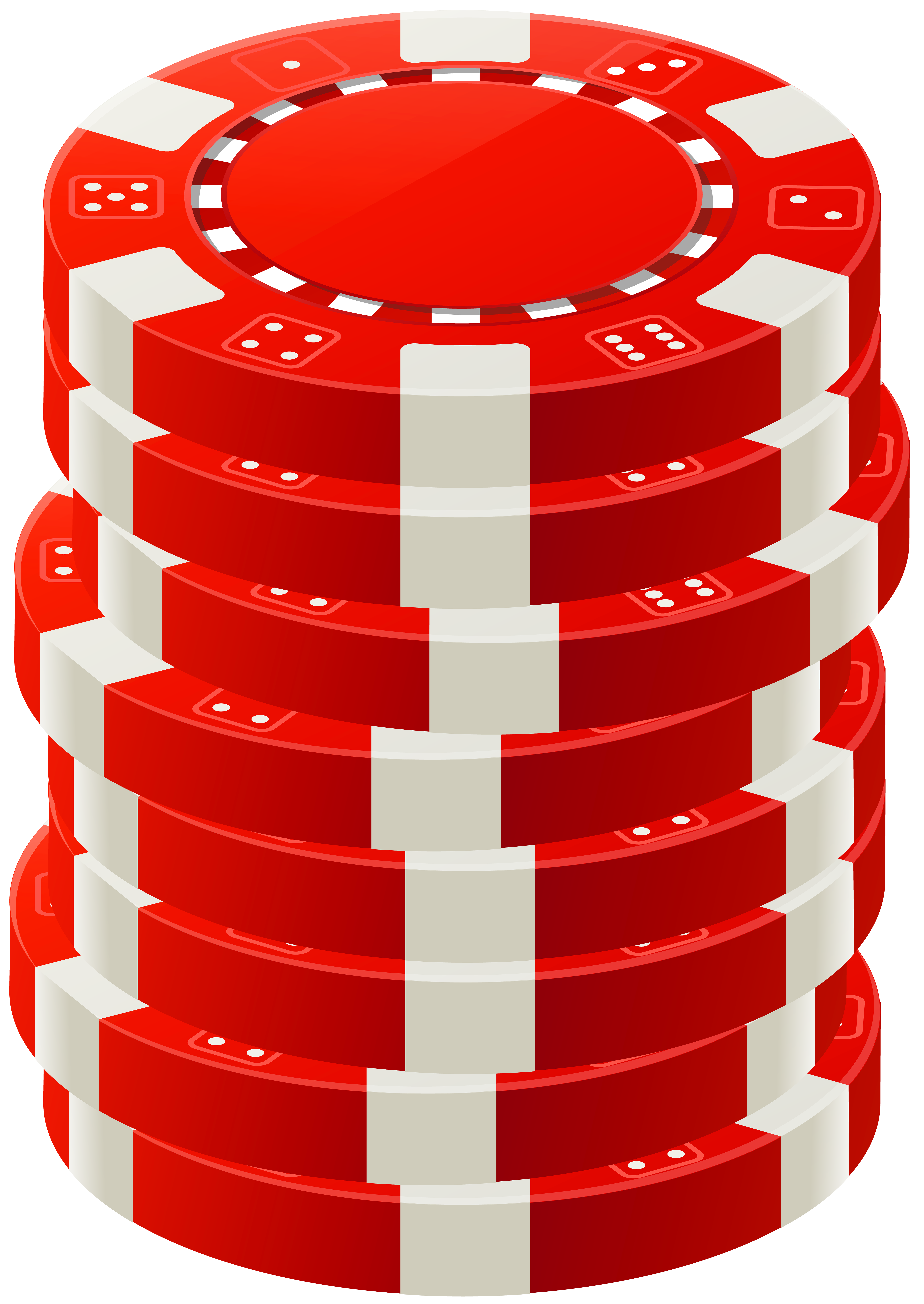 Red Poker Chips PNG Clip Art.
