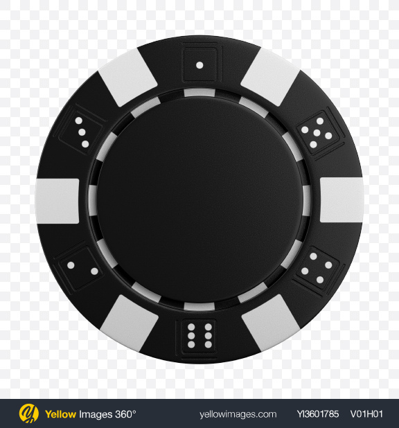 Download Black Poker Chip Transparent PNG on Yellow Images 360°.