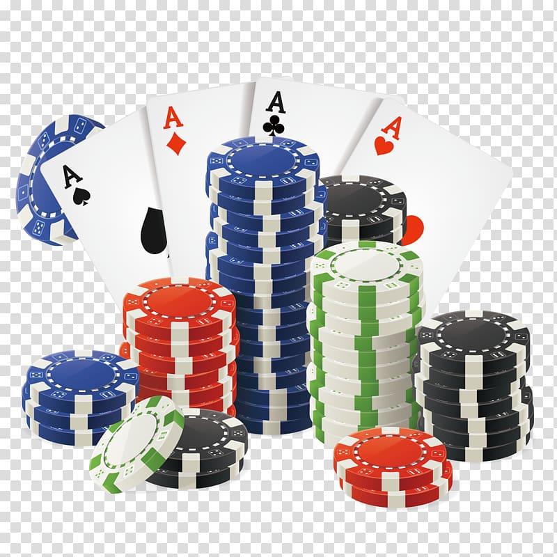 Poker illustration, Casino token Playing card Gambling.